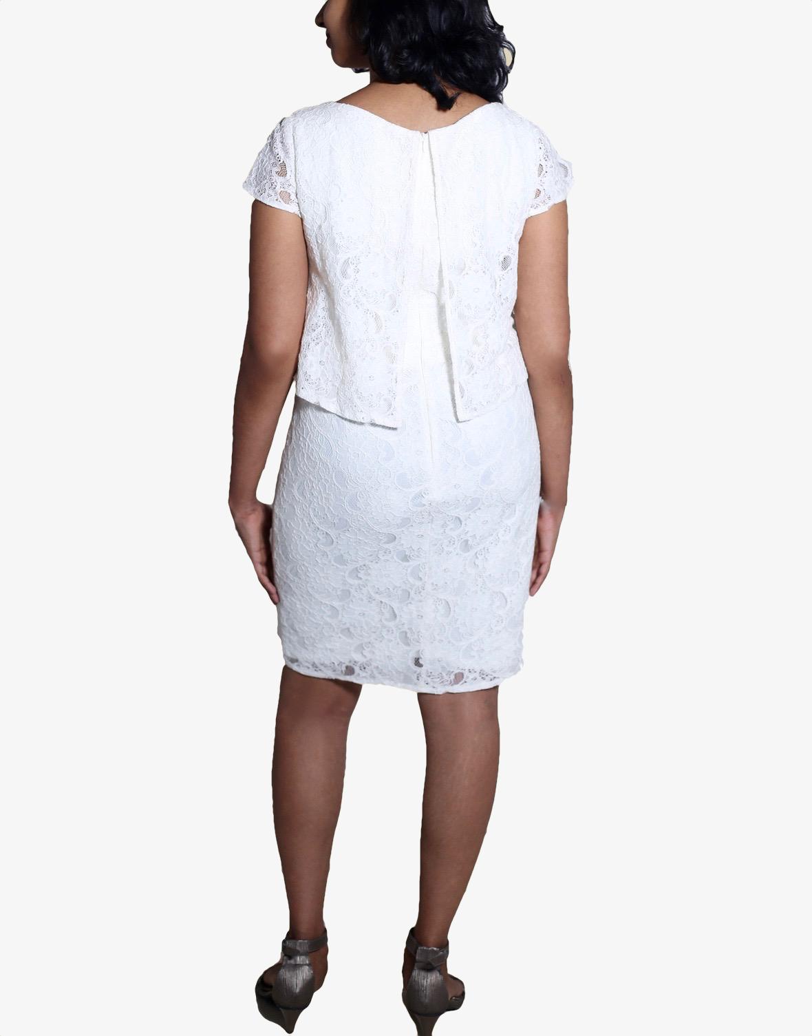 White Overlay Lace Dress
